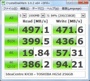 CrystalDiskMark_IdeaCentre-K430_TOSHIBA-HG5d-256GB_200GBfile_0Fill