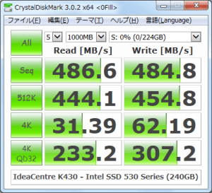 CrystalDiskMark_IdeaCentre-K430_Intel-SSD-530-Series-240GB_0Fill