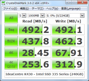 CrystalDiskMark_IdeaCentre-K430_Intel-SSD-335-Series-240GB_0Fill