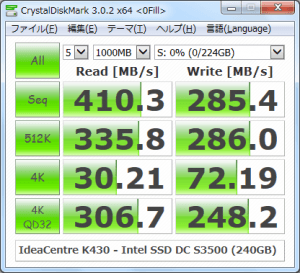 CrystalDiskMark_IdeaCentre-K430_Intel-SSD-DC-S3500-Series-240GB_0Fill