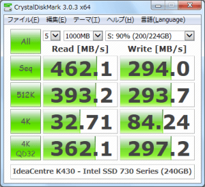 CrystalDiskMark_IdeaCentre-K430_Intel-SSD-730-Series-240GB_200GBfile